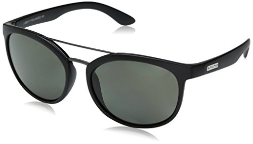 Suncloud Liberty Sunglasses, Matte Black Frame/Gray Polycarbonate Lens, One - Liberty Sports Sunglasses