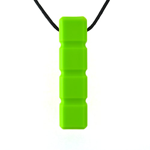 Quell-O Quad-Blockz Chewelry Oral Motor Sensory Aid Chewable Necklace - For Mild Chewers Only - Tough, Green - by ()