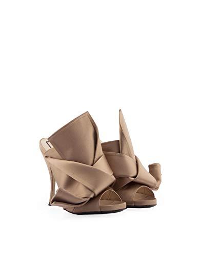 Tacón N°21 Beige 8007beige De Zapatos Tela Mujer Yqw76xnrYE