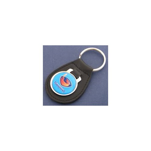 Concord Global Trading Atlanta Thrashers Light Blue Leather Keychain (Sunset Concord League)