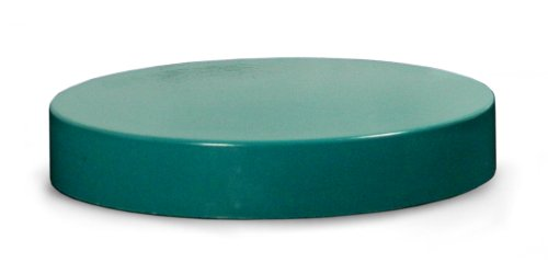 - Qorpak CAP-06348 Ribbed Thermoset Cap with F217 and PTFE Liner, 83-400 Size, Green (Case of 50)