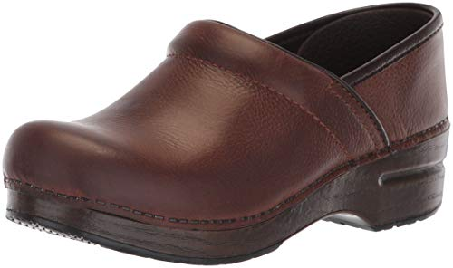 Dansko Women's Professional Mule,brown burnished nubuck,41 EU/10.5-11 M US