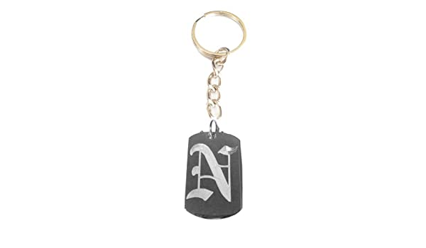 Metal Ring Key Chain Keychain Letter B OLD English Font Initial First Name Logo