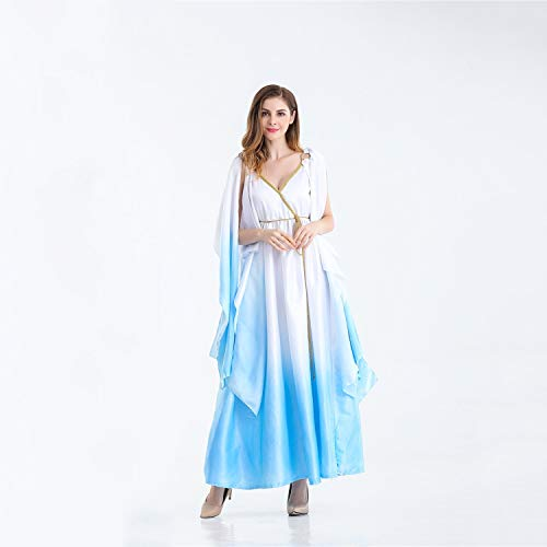 LCMJ WS Halloween Roman Empire Costume Athena Style Goddess Dress Princess for Women Party (Size : -