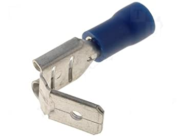 Steckverbinder flach crimp Flachsteckhülsen isoliert rot 4,8x0,8mm 100 Stück
