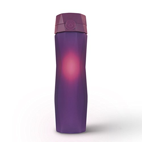 Hidrate Spark 2.0A Smart Water Bottle - New & Improved - Tracks Water Intake & Glows to Remind You to Stay Hydrated (Purple)