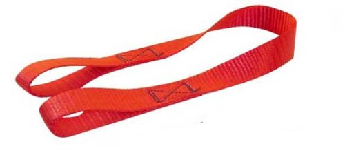 Erickson 06304 Red 1' x 18' Motorcycle/ATV Tie-Down Assist Strap, (Pack of 2) 266018