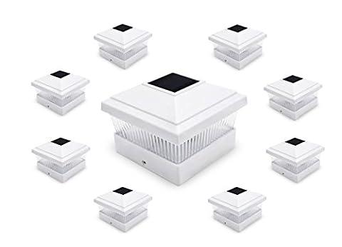 EPIK Solar Post Cap Lights with LED Light for 5 x 5 Posts (8 Units White)
