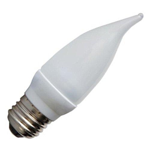 GE Lighting 65535 Energy Smart LED 2.4-Watt (15-watt replacement) 100-Lumen Fluted Candle Light Bulb with Medium Base, 1-Pack