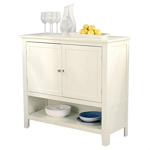 Kitchen Dining Storage Cabinet Sideboard Buffet Server in Antique White from StarSun Depot