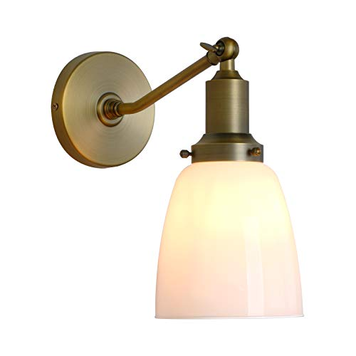 - Permo Industrial Vintage Slope Pole Wall Mount Single Sconce with 5.5