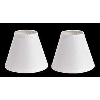 Urbanest 100 Linen Chandelier Lamp Shades 6 Inch