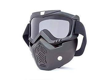 MOTO Completo Máscara & Goggles con astilla Cristal para ABIERTO CASCOS