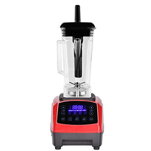 Automatic Digital Smart Timer Program 2200W Heavy Duty Power Blender Mixer Juicer Food Processor Ice Smoothie Bar Fruit,RED (Best Mixer Juicer Grinder In India 2019)