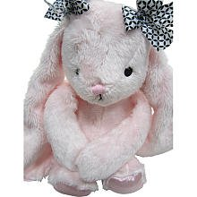 Lambs & Ivy Duches Gigi Pink Plush Bunny With Black And W...