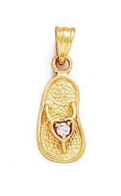 2,5 mm 14 carats avec topaze Rose Pierre-Bois de santal-JewelryWeb