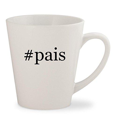 #pais - White Hashtag 12oz Ceramic Latte Mug (Pai Gow Cup)