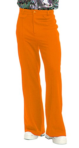 Charades Men's Disco Pants, Orange, 30
