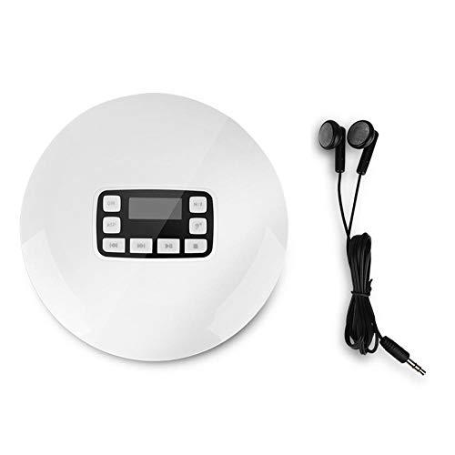 Draagbare CD-speler Bluetooth HIFI Stereo CD-muziekspeler Schokbestendig met oplaadkabel voor koptelefoon(EU-stekker)
