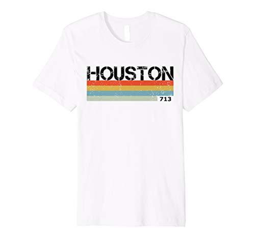 Houston, Texas 80's Retro Colour 713 Area Code T Shirt