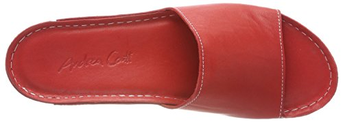 Andrea Conti Women's 0771519 Mules, Black, 4 Red (Rot 021)