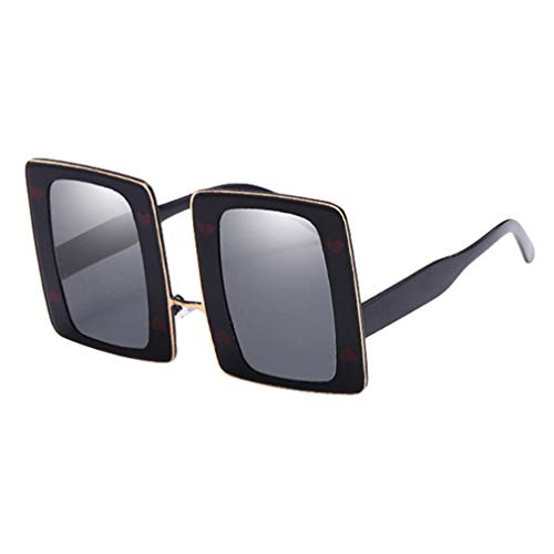 Per Gradient Oro Donna Yying Big Frame Unisex Da Uv400 Uomo grigio Classic Occhiali Sunglasses Sole qwXRBw
