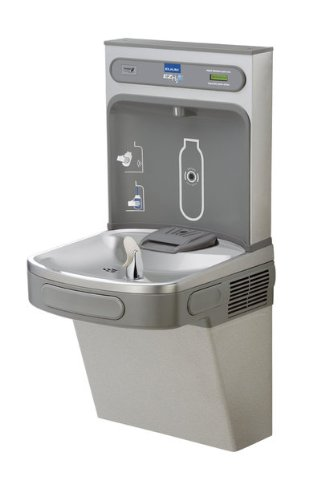 Elkay EZH2O Drinking Fountain and Bottle Filling Station with Glass Filler (Water Bottle Station compare prices)