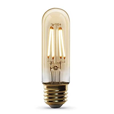 """Feit Electric T10/VG/LED Original"""" Vintage Exposed Filament Amber Glass"""