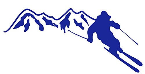 (hBARSCI Mountain Skier Vinyl Decal - 5