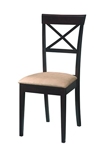 Gabriel Cross Back Dining Chairs Cappuccino (Set of 2) by Coaster Home Furnishings