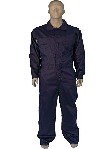 X LARGE FLAME RESISTANT NAVY COVERALLS by Toledano industries (Image #4)
