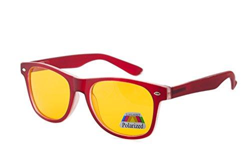 para Red sol de Gafas morefaz Polarized hombre Rubi xUgtpqw