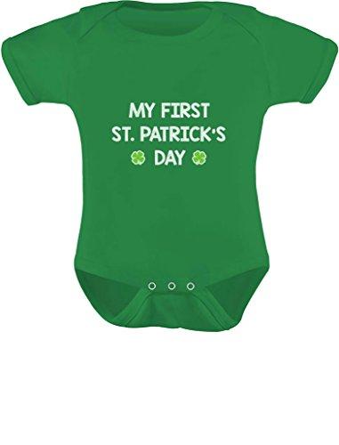 TeeStars - My First St. Patrick's Day - Cute Infant Irish Clover Baby Bodysuit 12M Green
