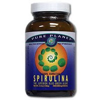 Premium Spirulina Pure Planet Products 100 VCaps