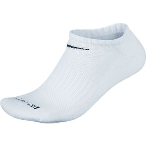 Nike Golf Men's Dri-Fit No Show 3-Pair Socks, White/Black, Large (Nike Show Socks No)