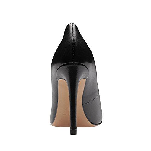 con Tacón Pump Evita negro Cerrada Mujer de para Punta Shoes Zapatos Tq6OXw6xfR