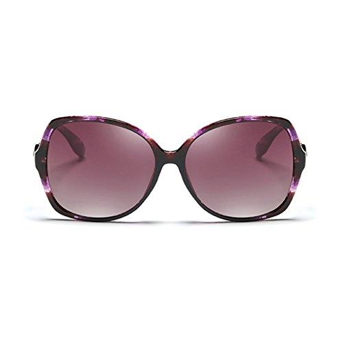Wayfarer Gafas Color de la 64mm Mujer Protección Purple sol Manera Elegante Purple de Clásica Calle polarizadas xrr1qw