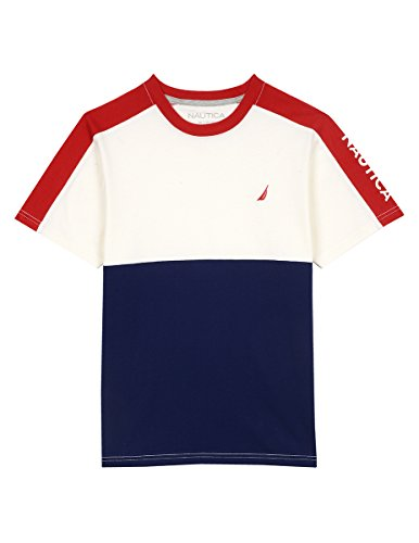 Nautica Boys' Short Sleeve Color Block Crewneck Tee