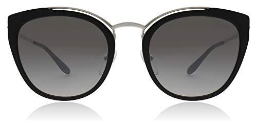 Prada PR20US 4BK5O0 Silver/Black/Ivory PR20US Square Sunglasses Lens ()