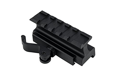 Monstrum Tactical Lockdown Series High Performance Riser Mount | 2.5 inch L / 5 Slot with Quick Release (High Profile)