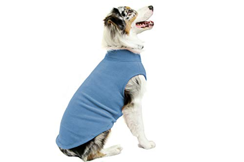 Gooby - Stretch Fleece Vest, Pullover Fleece Vest Jacket Sweater for Dogs, Steel Blue, 5X-Large ()