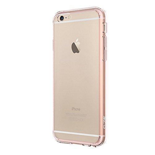 SMART LEGEND iPhone 6S Hülle, iPhone 6 4.7 Zoll Handytasche Transparente Schutzhülle Utral Dünn Klar PC Crystal Hart Backcomver und Silikon Gel Rosegold Weich Bumper Flexible Soft Case Cover Tasche Et