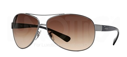 RAY BAN RB 3386 RB3386 004/13 GUNMETAL FRAME BROWN GRADIENT LENS AVIATOR SUNGLASSES SHADES, - Ban Ray 3386