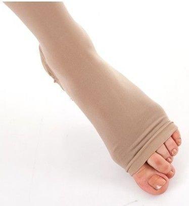 Clase banda de compresión postoperatoria de la pierna izquierda Blanco
