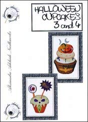 Halloween Cupcakes 3 & 4 Cross Stitch Chart and Free Embellishment -