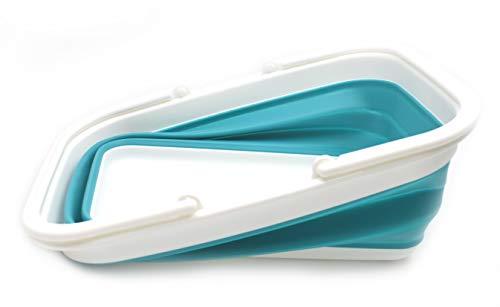 31eQnlocRaL SAMMART 15.5L (4.1Gallon) Faltbare Wanne mit Griff - Tragbarer Picknickkorb/Krater - Faltbare Einkaufstasche…