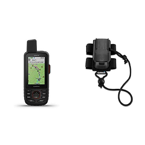 Garmin GPSMAP 66i GPS Handheld and Satellite Communicator Bundle with Garmin Backpack Tether Accessory for Garmin Devices