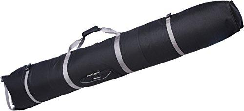 AmazonBasics Small Double Padded Ski Bag - 59 x 7 x 7 Inches, Black (Best Ski Bag For Airline Travel)