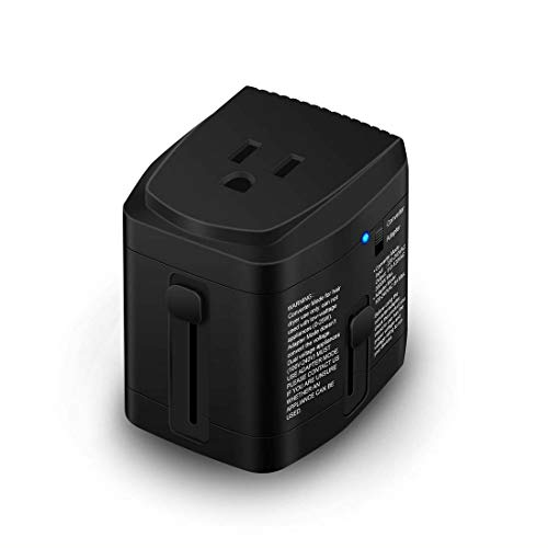 (All in ONE World Travel Plug Power Adapter 2000 Watts Voltage Converter Step Down 220V to 110V for Hair Dryer Steam Iron Laptop MacBook Cell Phone - US to UK)