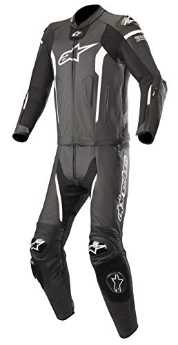 Missile Leather Racing 2-Piece Motorcycle Suit for Tech-Air Race Airbag System (48 EU, Black ()